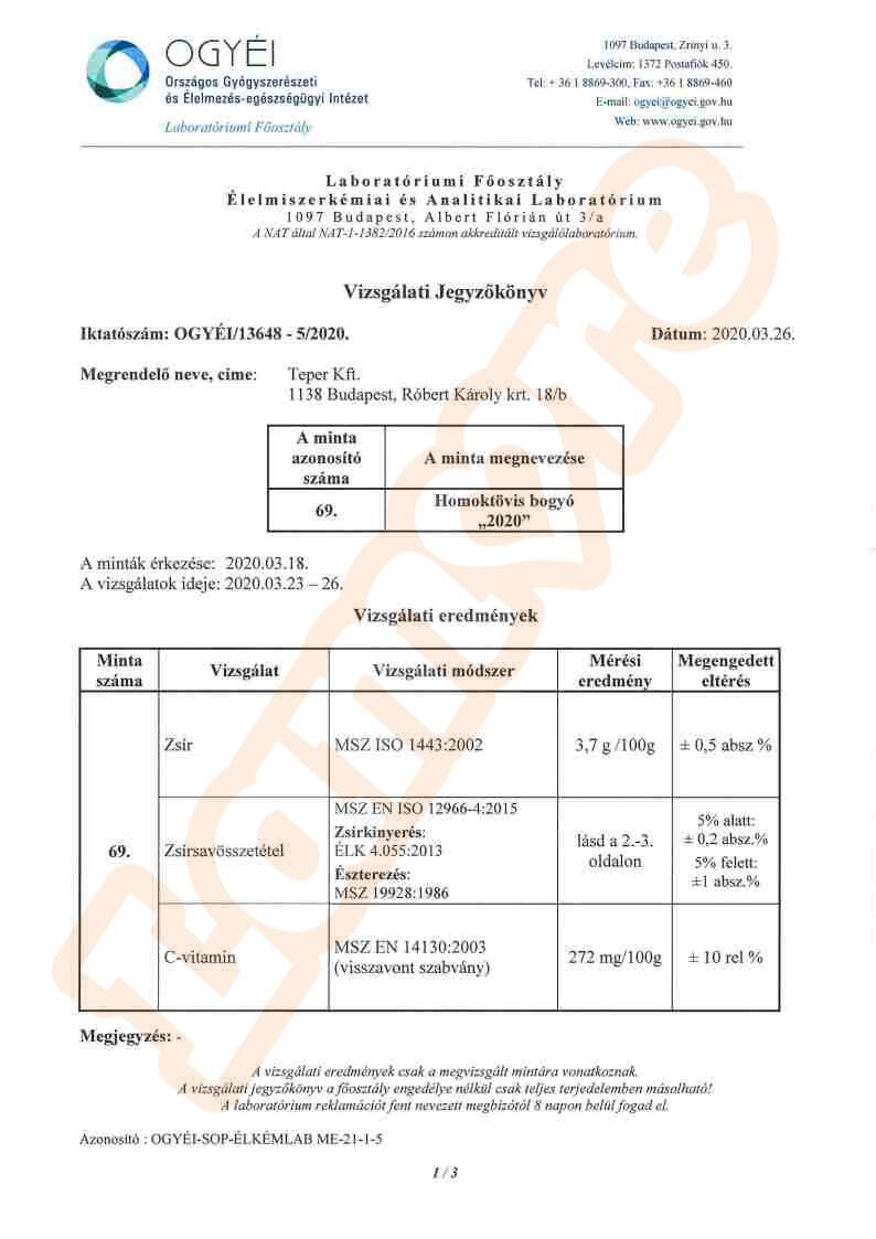 Homoktövis labóratóriumi teszt1