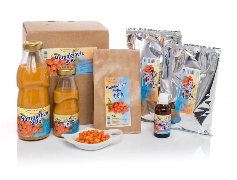 Homoktövis termékek - velő, gyümölcslé, bogyó, magolaj, tea, őrlemény